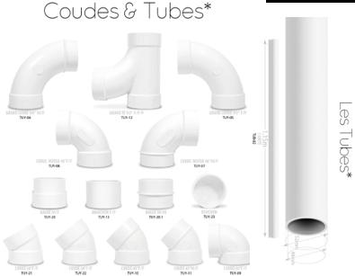 Coudes et tubes pour aspiration centralisée