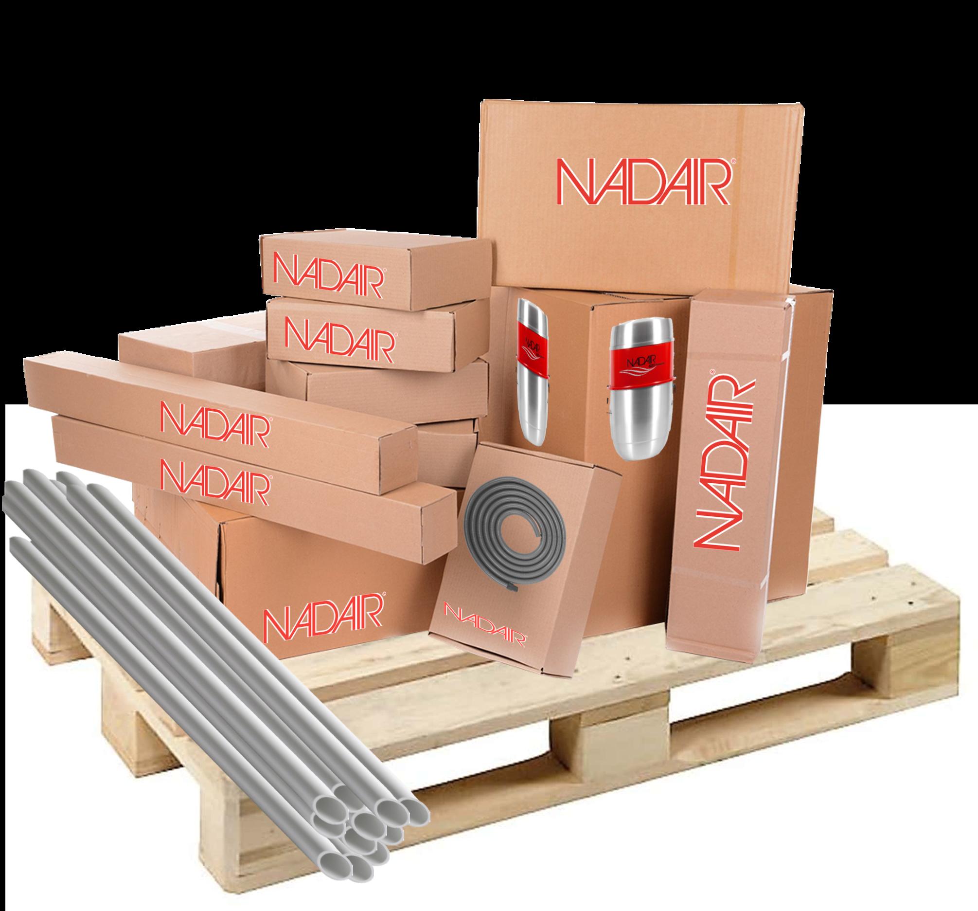 Packs prêt à poser aspiration centralisée Nadair top qualité