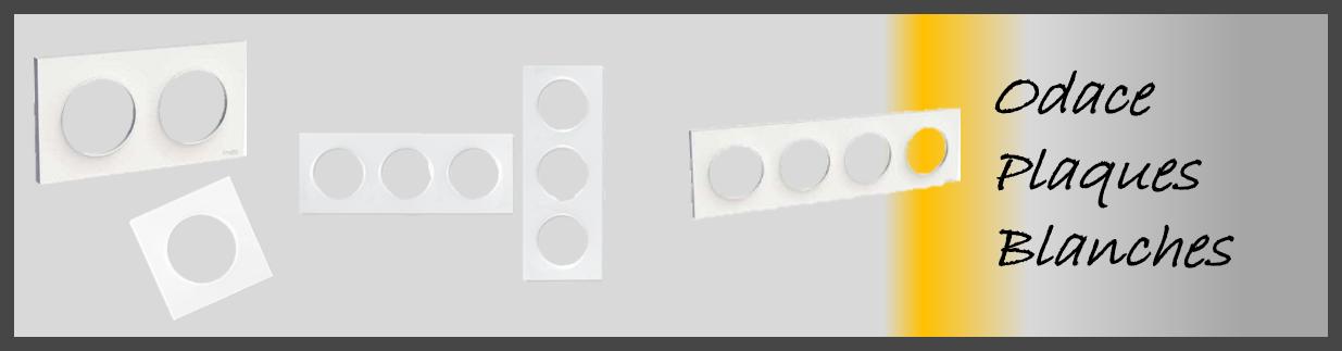 Plaque blanche standard pour appareillage Odace Schneider