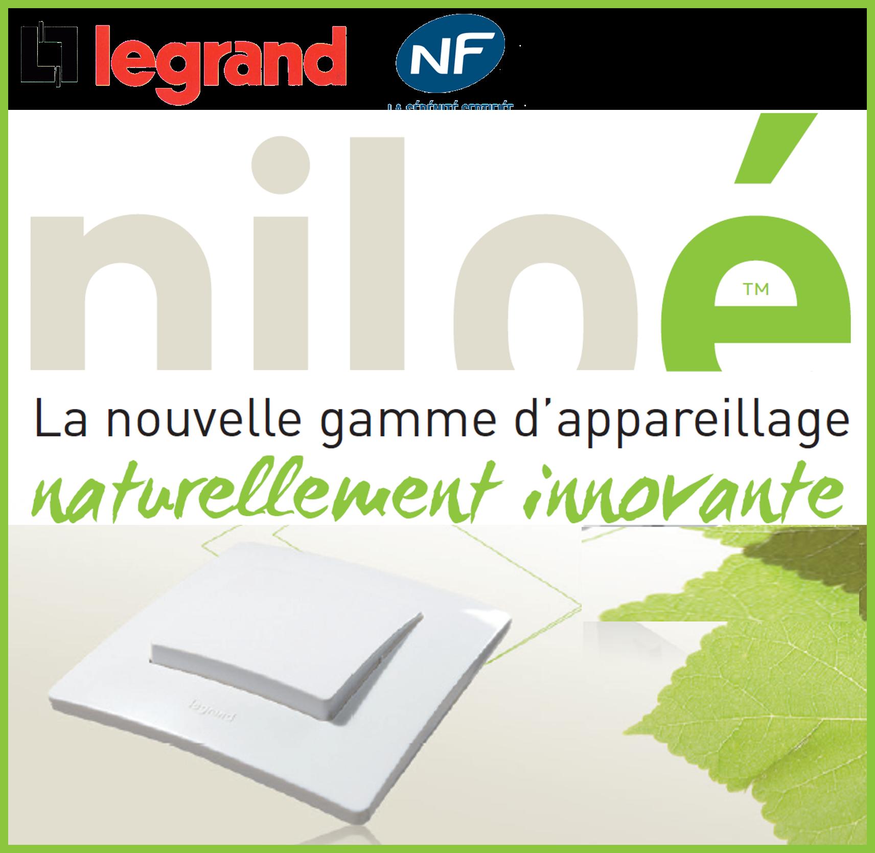 Logo appareillage Niloé, la nouvelle game d'appareillage Legrand naturellement innovante
